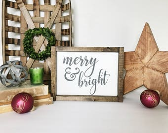 Merry Christmas Sign, Christmas Sign, Christmas Decor, Merry Sign, Rustic Christmas, Christmas Gift, Farmhouse Style