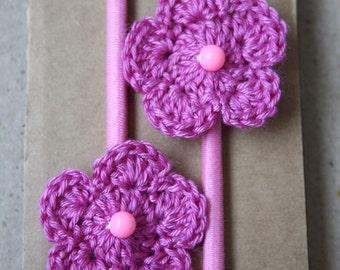 SALE Crochet Flower Hair Bobbles