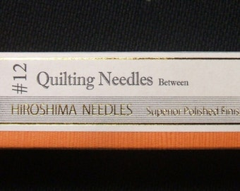 Tulip 6 Pack Quilting Between Size 12 Needle Hiroshima Needles Superior Polished Finish
