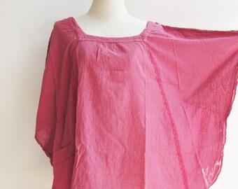 B11, Moth Pink Cotton Blouse
