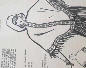 the poncho pattern catalog Marie - Claire of 1975 will be on you or your kids back in fashion year 1975