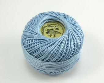 Finca Perle Cotton Thread Pearl Cotton - Pale Delft Blue