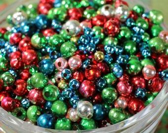 1/2 Ounce Vintage Mercury Glass Single Bead Assortment