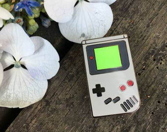 Grey Gameboy Lapel Pin (Glow In The Dark) - Nintendo Enamel Pin