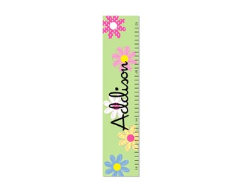 Growth Chart Children Daisy Garden Canvas Growth Chart  Kids OHSC