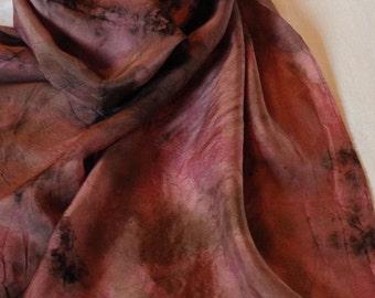 Silk Scarf Cochineal Natural Dye