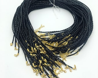 """22""""-24"""" Braided leather necklace"""