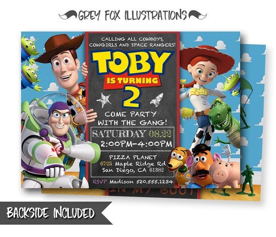 Toy Story InvitationToy Story InviteDisney Pixar Toy Story