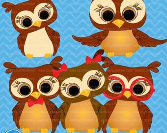 80%OFF Owls clipart, commercial use, vector graphics, digital clip art, scrapbooking, digital images, AMB-600