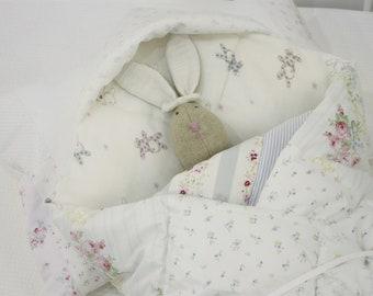 Patchwork Swaddle Blanket | Newborn | Baby Tummy Time