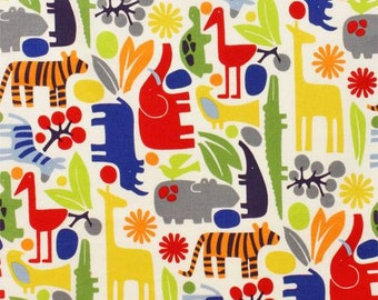 Alexander Henry Zoo Primary Colors Cotton KNIT Fabric, many size variety options available