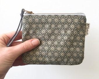 little retro zipper pouch coin pouch little wallet make up bag zipper mini purse tiny wallet travel bag zipper wallet print boho bohemian
