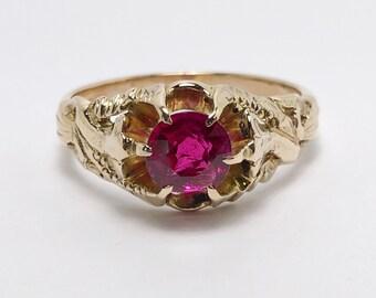 Exquisite Victorian 14k Gold Art Nouveau Ring (1096D)