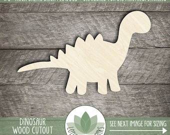 Wood Dinosaur Shape, Laser Cut Wooden Dinosaur, Dinosaur Wall Decor, Unfinished Wood For DIY Projects, Many Sizes, Dinosaur Party Favor