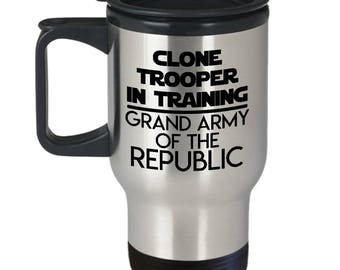 Star Wars Clone Trooper Travel Mug - 14oz Stainless Steel Tumbler For Your Favorite Cold or Hot Beverage