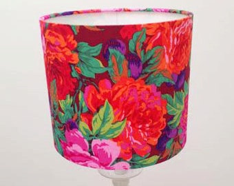 ... Floral Lampshade Blooming Birds Azalea Lamp Shade Drum Lamp Flower Lamp  Shade Medium Lampshade Home Floral ...