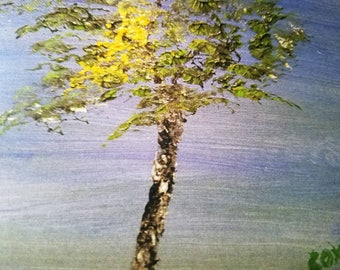 Yellow Leaves (1 Note card with White Envelope)