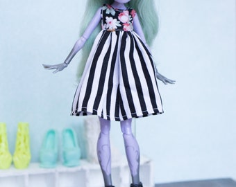 dress outfit for little monster high doll  MH Ever after high  1/6 eah