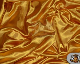 """Satin Charmeuse Solid Fabric MANGO / 60"""" Wide / Sold by the yard"""