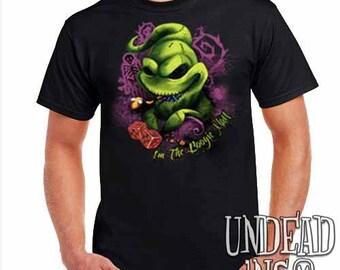 Villains Tim Burton Nightmare Before Christmas Oogie Boogie - Mens T Shirt