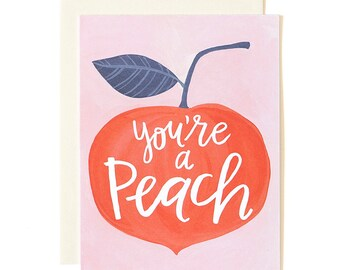 You're a Peach Illustrated Card // 1canoe2