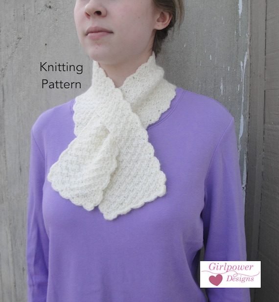 Pull Through Scarf Knitting Pattern Easy Ascot Neck Warmer