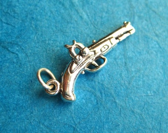 Sterling Silver  3D  Dueling Pistol