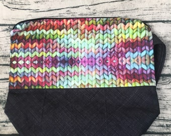 Project bag - knit look fabric