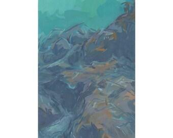 seascape painting / original art / contemporary art / giclee print / seascape wall decor