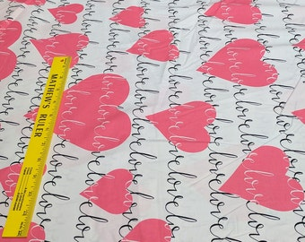 Love Heart Cotton Fabric from Michael Miller Fabrics
