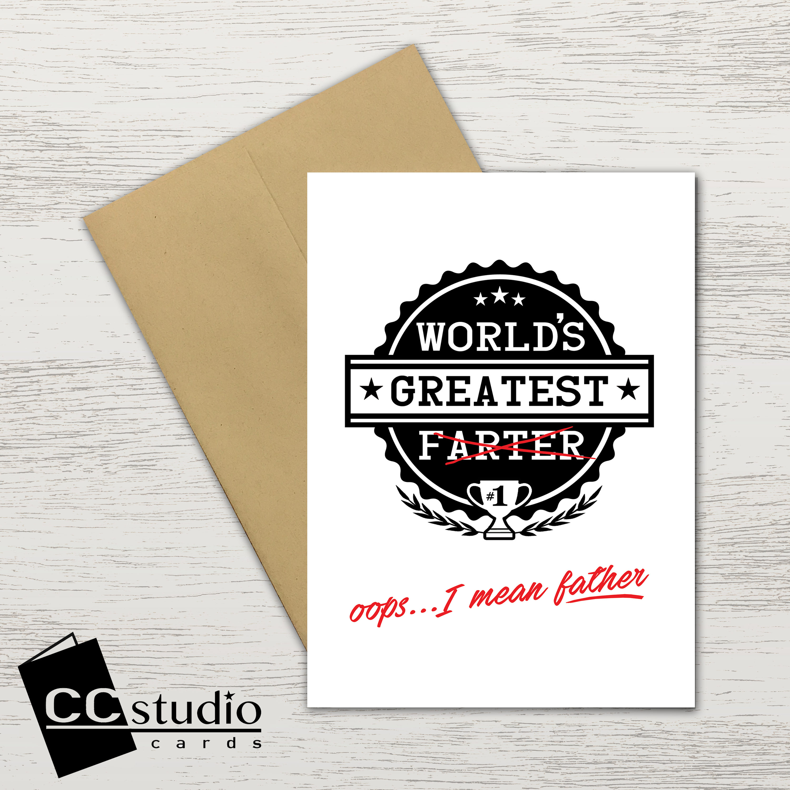 Worlds Greatest Farter Birthday Card Fathers Day Dad Cards Funny For Him Gifts Blank