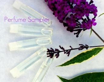 Perfume Sampler Set -Set of 5 Artisan Crafted Fragrance Blends,