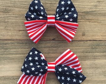 Patriotic Bow || Piper & Everly Bow
