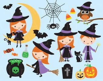 Halloween Clipart Halloween Clip Art Cute Halloween Clipart Witch Clipart Wizard Clipart Trick or Treat Clipart Jack o Lantern Clipart