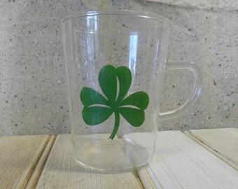 Shamrock glass mugs set of six