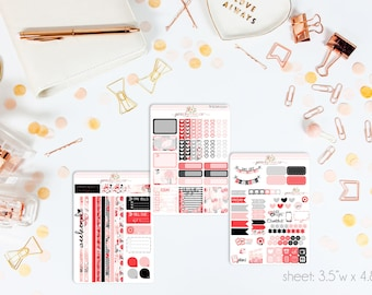 Be Mine MINI Weekly Kit // 130+ Matte Planner Stickers // Perfect for your Personal Planner // WKM0520