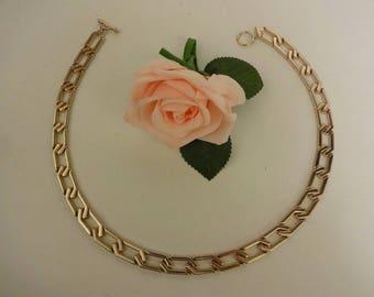 Vintage Gold Necklace, Statement Gold Necklace, Chunky Gold Necklace, Long Gold Necklace, Retro Gold Necklace