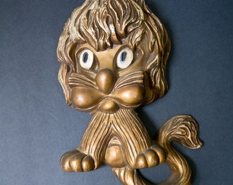 1970s Kitschy Mod Lion Wall Hanging Plaque