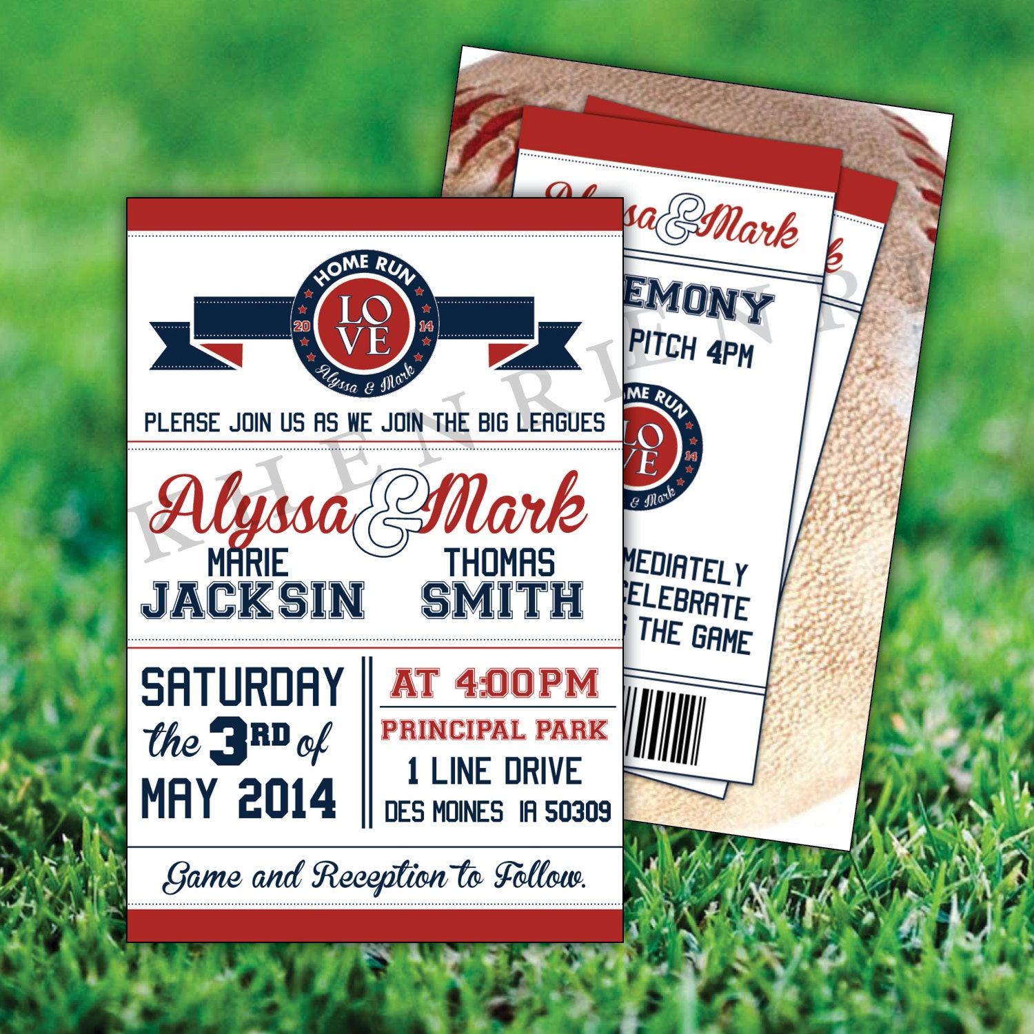 Baseball Wedding Invitations printable baseball cards