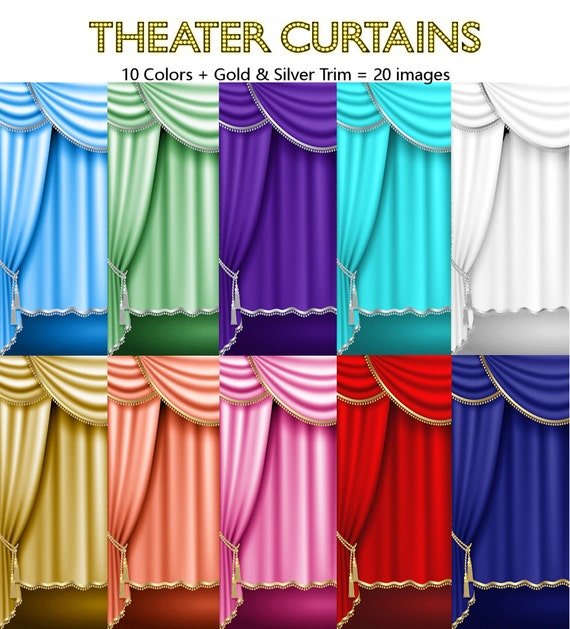 Used Theatrical Drapes: Theater Curtains Drapes Gold & Silver Trim Royal Blue Red