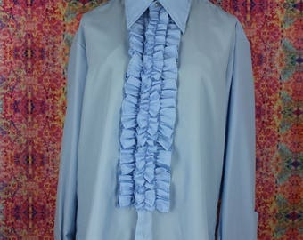 Vintage 1970s Tuxedo Shirt