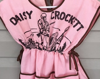 ON SALE Vintage Daisy Crockett Art Smock -  Craft Apron