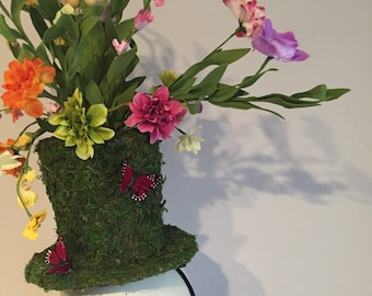 Top Hat Fascinator -Winning Derby Fascinator- Mad Hatter Fascinator- Flower Fascinator- Mad Hatter- High tea Fascinator-Contest winner Hat