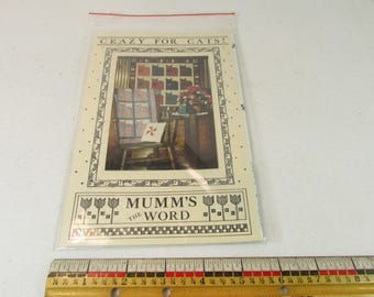 Crazy For Cats Mumm's The Word Quilt Patterns 1987 NIB 45x60 & 33x34 inch