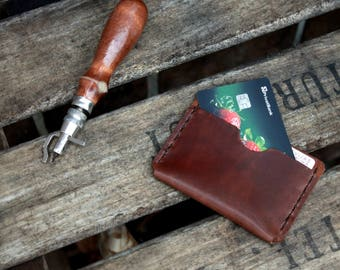 Credit Card Holder Minimalist wallet Minimalist leather wallet One pocket leather card holder