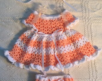 Cream sickle inspired spring dress 0-3 months