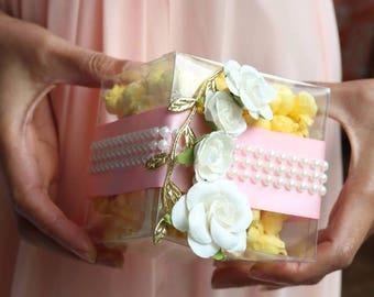 Glam Popcorn Favor boxes, wedding favor boxes,