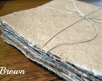 5 sheets 8.5x11 inch CARD STOCK handmade paper, recycled paper, eco friendly paper, homemade paper, handmade recycled paper, sheet paper