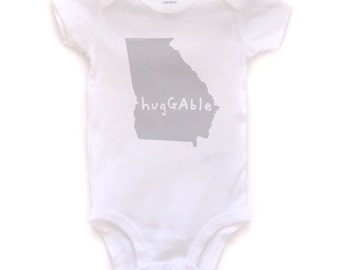 cute baby Onesie®, georgia baby clothing, georgia baby gift, georgia love, georgia shower gift, baby neutral, cute baby gift,