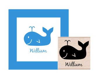 Personalized Whale Rubber Stamp